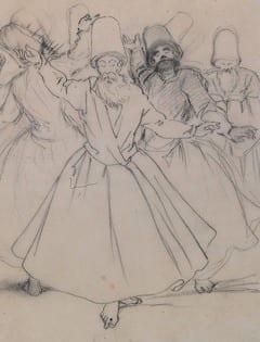 détail d'un dessin d'Amadeo Preziosi