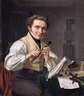 Self-portrait, Emilius Baerentzen