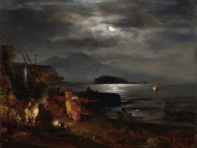 La baie de Naples au clair de lune