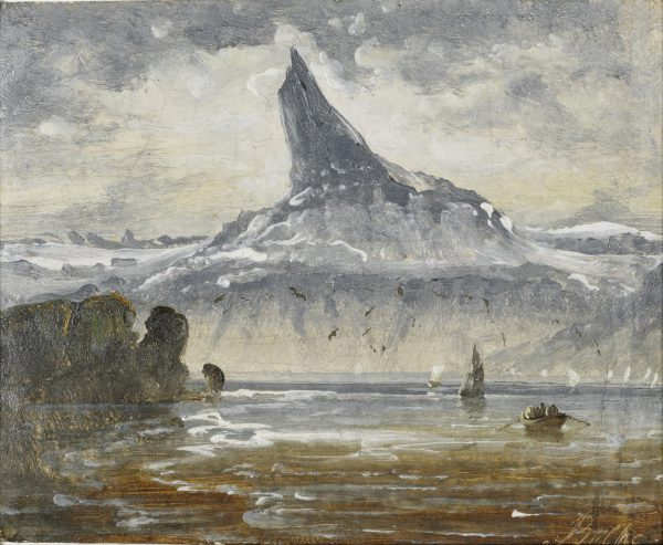 A distant view of mountain Stetind, Norway