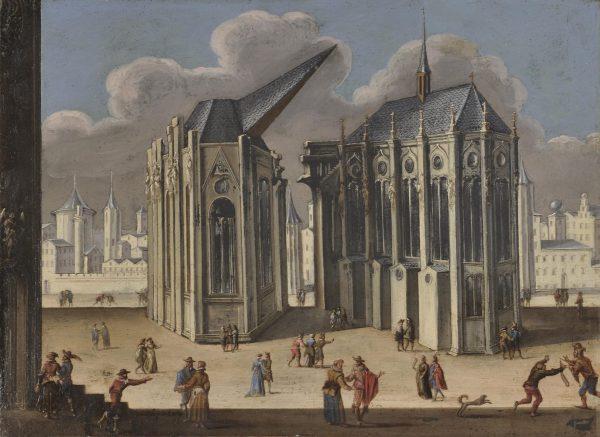 Vue fantastique d'une cathédrale gothique