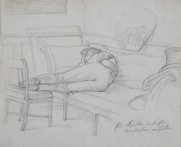 Jeune homme couché