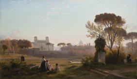 Vue de la villa Médicis à Rome