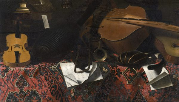 Still Life with Birds and Musical Instruments