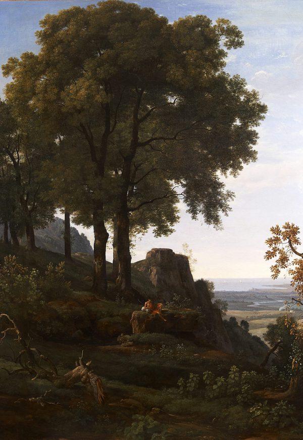 Berger dans la campagne romaine
