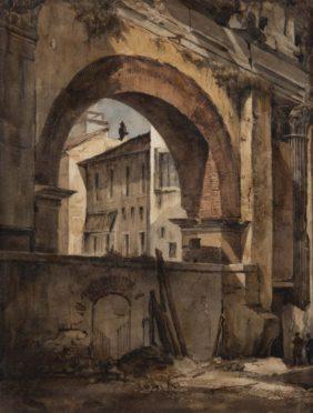 Richard-Parkes Bonington, La Portique d'Octavie à Rome