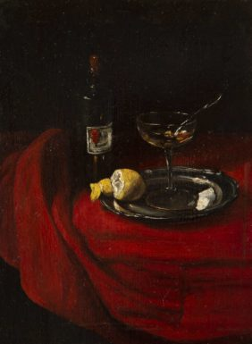 Bonvin François, Nature morte avec une bouteille de vin