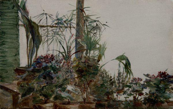 Pot de fleurs sur le mur, Sèvres