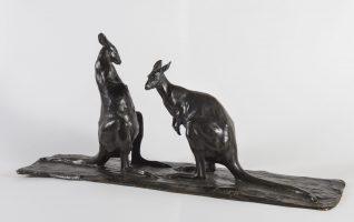 Two Kangaroos facing each other