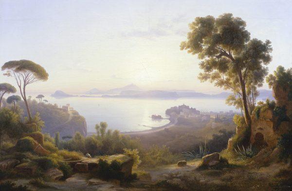 Vue du golfe de Pozzuoli avec les îles de Procida et d'Ischia