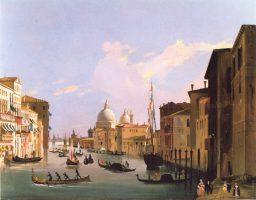 Vue du Canal Grande avec S. Maria Della Salute, Venise