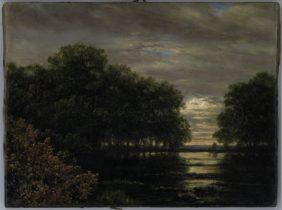 Carl Gustav Carus, Flood in the Rosental Valley, Leipzig