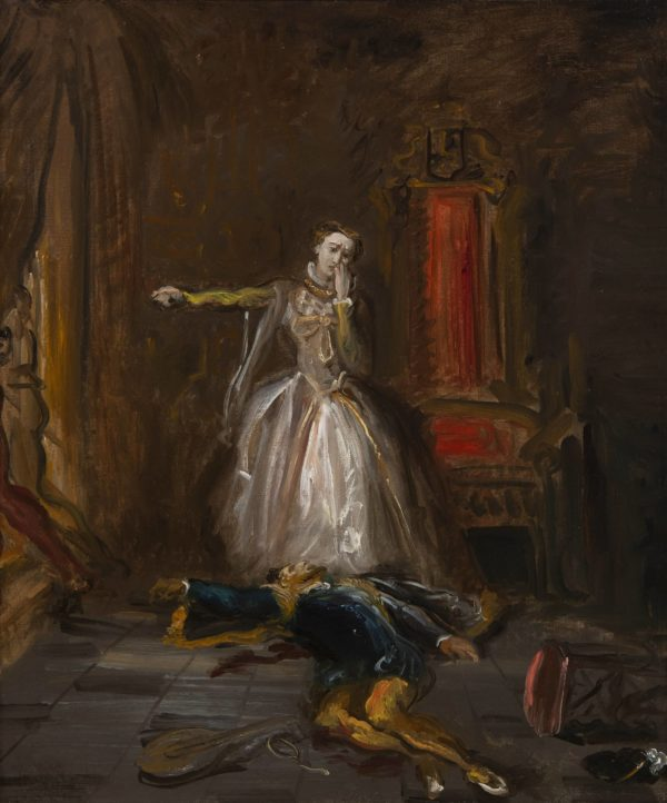 Chassériau Théodore, Marie Stuart jurant la vengeance
