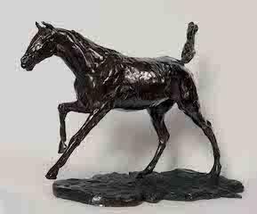 Cheval au galop sur le pied droit, Degas