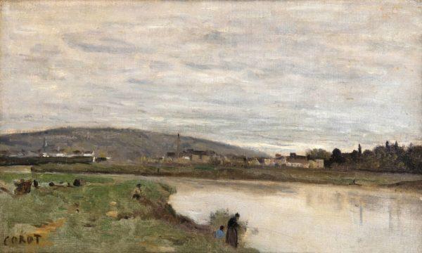 Corot Jean Baptiste Camille, La Marne à Château-Thierry