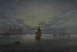 Johan Christian Dahl, Le château de Kronborg au clair de lune