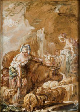 Jean-Baptiste Deshays, Troupeau près d'une cascade