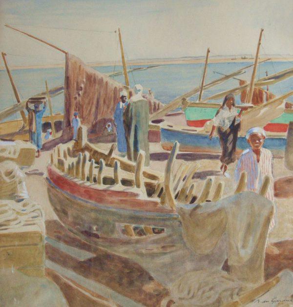 Barque et sambouks, golf de Suez