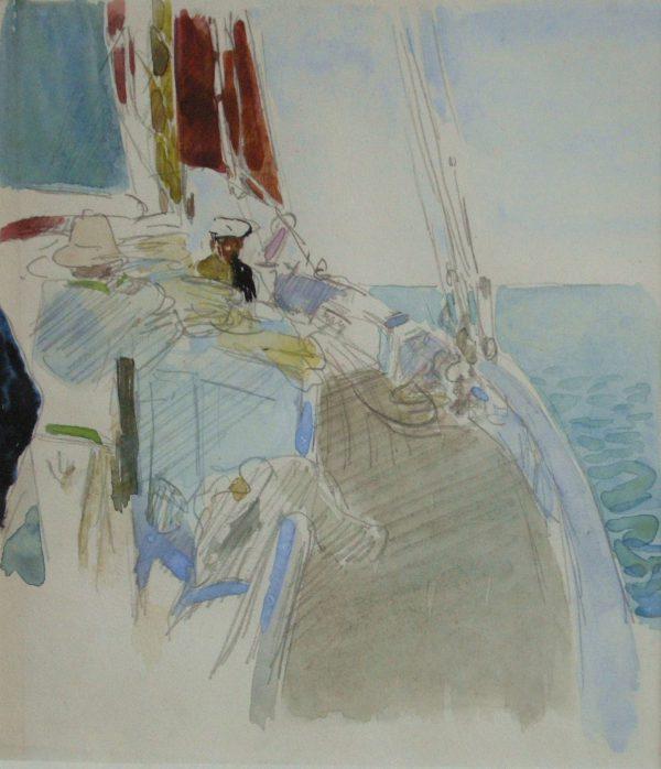 Sur le pont du yacht