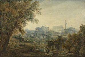 Capriccio view of the antic Rome