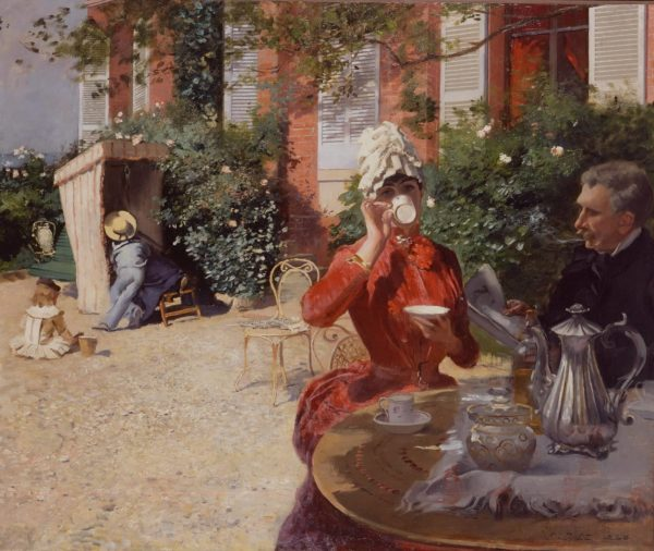 Duez, Le déjeuner sur la terrasse, Villerville