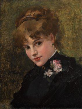 Duez, Portrait de jeune femme élégante