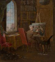 Charles Eisen, Self-Portrait in his Studio