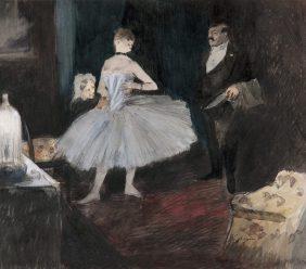 Visite dans la loge de la danseuse