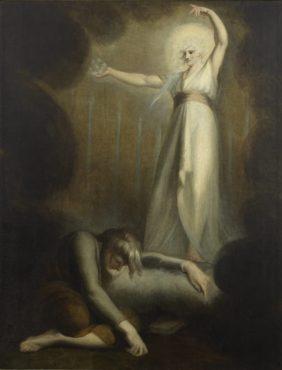 Johann Heinrich Füssli, La vision de Saint Jean du Christ et des sept chandeliers de l'Apocalypse
