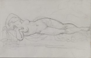 "Study of a Female Nude for the ""Erotic Trio"""
