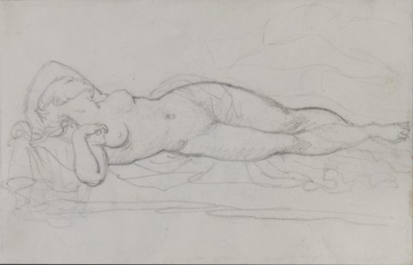 """Study of a Female Nude for the """"Erotic Trio"""""""