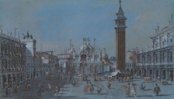 Giacomo Guardi, A View of Piazza San Marco, Venice