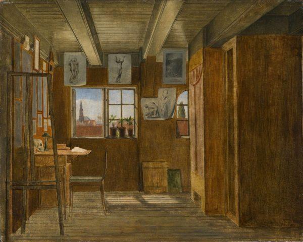 Hans Jørgen Hammer, L'atelier de l'artiste à Nyhavn, Copenhague