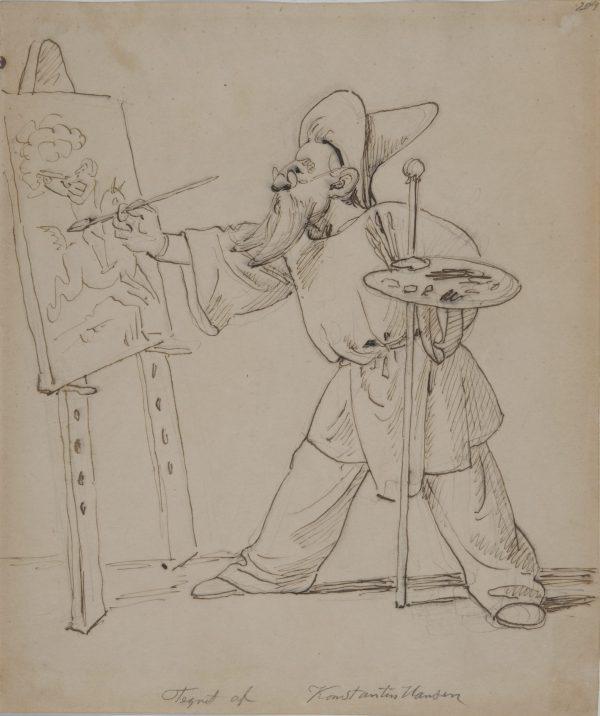Autoportrait de l'artiste à son chevalet