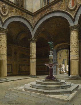 La cour du Palazzo Vecchio à Florence