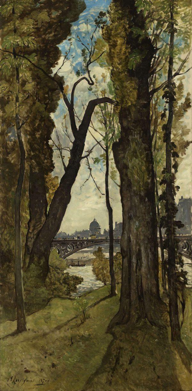 The Pont des Saints Pères, Paris 1870