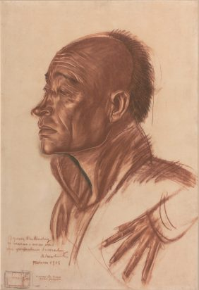 Portrait of a Chinese Man in Profile and Study of a Hand