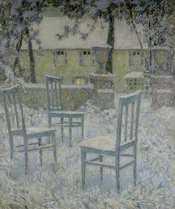 Henri Le Sidaner, Neige dans le jardin à Gerberoy
