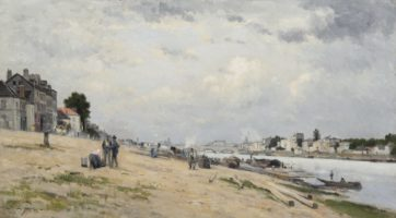 Stanislas Lépine, The Banks of the Seine between Bercy and Ivry, Paris