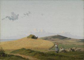 Johan Thomas Lundbye, View of Hankehøj, with Vejrhøj in Background, Zealand