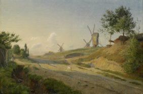 Johan Thomas Lundbye, Moulins à vent près de Kalundborg