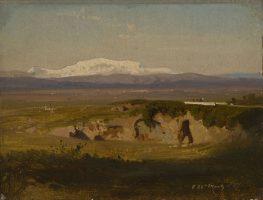 Vue de la plaine du Rieti avec le Monte Terminilo