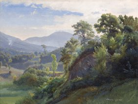 View of the Forest Serpentara, Olevano Romano