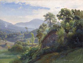 Vue de la Forêt Serpentara, Olevano Romano