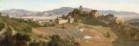Vue d'Olevano Romano, Italie
