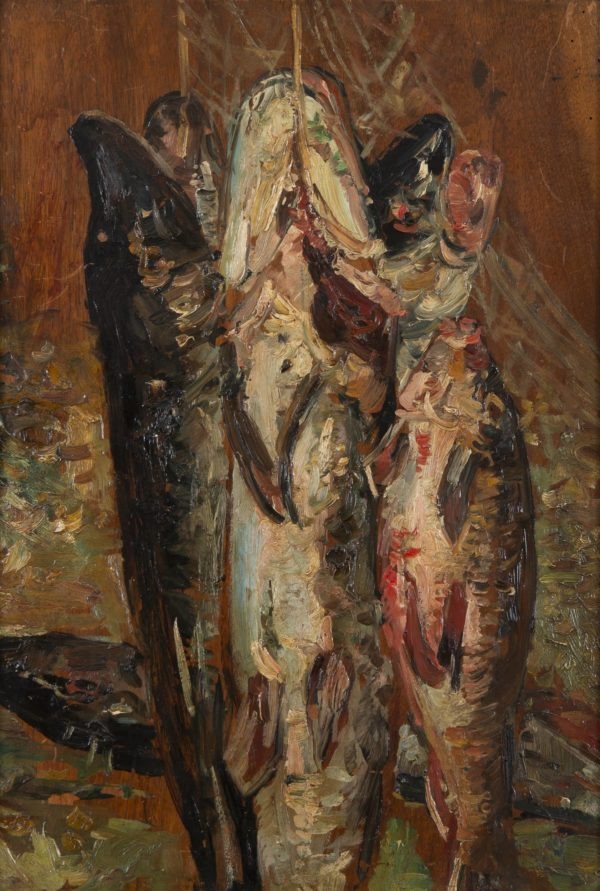 Adolphe Monticelli, Still Life with Pike and Bream
