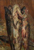 Adolphe Monticelli, Nature morte aux brochets et à la brème