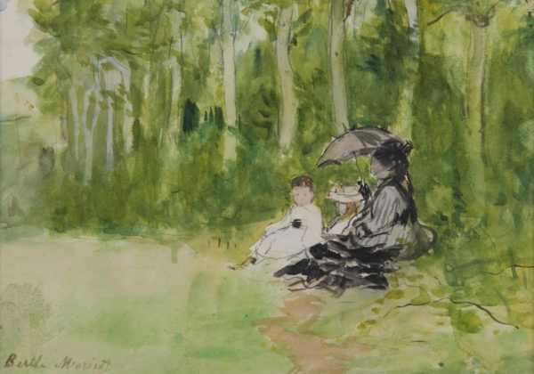 Berthe Morisot, En promenade au bois