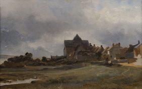 Vue d'un village normand