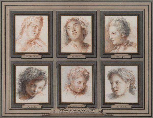Jean-Marc Nattier, Portraits de l'épouse et des enfants de l'artiste